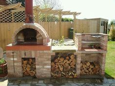 love the rustic real italian feel to it Wood fired pizza oven. love the rustic real italian feel to it The post Wood fired pizza oven. love the rustic real italian feel to it appeared first on Outdoor Ideas. Backyard Bbq Pit, Rustic Backyard, Backyard Shade, Backyard Plants, Backyard Privacy, Brick Grill, Patio Grill, Grill Barbecue, Pizza Oven Outdoor