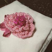 tutorial de pendientes de patrón de ganchillo rosa  patrón de ganchillo pdf con tutorial de fotos paso a paso  patrón de ganchillo de flores  joyería de boda