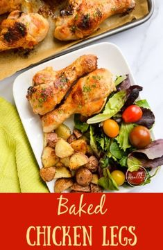 Baked chicken drumsticks (baked chicken legs) are a simple and crazy delicious main dish that you will want to eat on repeat. Tender, juicy, easy! apinchofhealthy.com