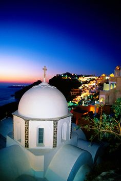 Night in Santorini, Greece  - Explore the World with Travel Nerd Nici, one Country at a Time. http://travelnerdnici.com/