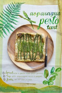 SPRING/SUMMER side - asparagus pesto tart