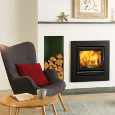 Smoke-control approved A neat solution designed to fit into a standard-sized fireplace, this built-in stove is approved for use in smoke-control areas, as long as it is fitted with the separately available smoke-control kit. Riva 50 multi-fuel cassette fire in Jet Black Metallic finish, from £1,495, Stovax