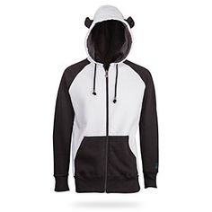 Finally! A casual way to dress up like a panda! Bring the Mists of Pandaria into your everyday life with this hoodie - a black and white sweatshirt with ears, pockets and the Pandaria monk paw insignia on the back.