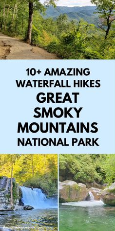 Most Visited National Parks, Us National Parks, Smoky Mountain Waterfalls, Nc Waterfalls, Asheville Waterfalls, Smokey Mountain, Smoky Mtns, Tennessee Vacation, Nashville Tennessee