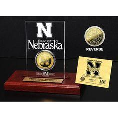 University of Nebraska 24KT Gold Coin Etched Acrylic