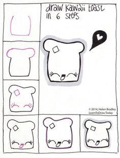 Afbeeldingsresultaat voor kawaii tekenen in stappen