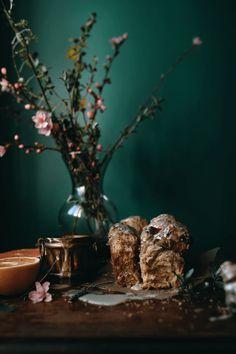 Pull-Apart Cinnamon Grapefruit Bread with Earl Grey Lavender Glaze