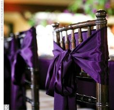 Dark purple chair ties