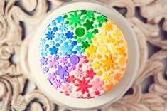 Rainbow Heart Cake FoodBlogs.com