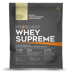 Proburst Whey Supreme Traveller Pack 33 g (Vanilla Ice Cream Pack of 6) At Rs. 414 From Amazon