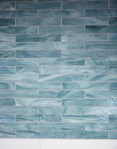 A Laguna Beach Bathroom The Repose tiles are laid in a running bond, adding a little movement. Ocean Bathroom, Beach House Bathroom, Beach Theme Bathroom, Beach House Decor, Bathroom Ideas, Blue Bathroom Tiles, Tranquil Bathroom, Beach Shower, Mermaid Bathroom