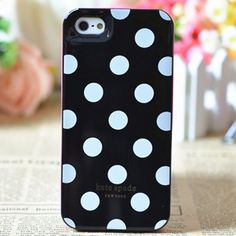 kate_spade_case_for_iphone_5_polka_dots_black it very cute and nice ,kate spade handbags