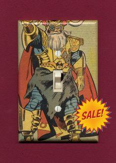 Superhero Light Switch Plate  Odin by IntergalacticDesign on Etsy, $9.95