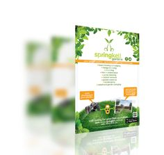 Springkell Gardens #marketing entry #flyer for #mowing and #gardening services.  #marketingflyer #graphicdesign #design #graphics #designflyer #A4