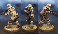 Agis Page of miniature painting and gaming - Legion Maquette Star Wars, Star Wars Figurines, Paint Themes, Imperial Assault, X Wing Miniatures, Rebel Scum, Star Wars Design, Starwars Toys, Star Wars Models