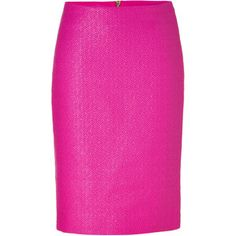 versace pink | VERSACE Hot Pink Back Zip Pencil Skirt - Polyvore