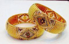 Tri Colours Gold Bangles... Latest trend