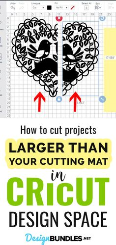 This step by step Cricut Design Space tutorial will teach you how to cut projects larger than your cutting mat in Cricut Design Space. #cricuttips #cricuttutorial #designspacetutorial