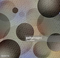 Stock Illustration : Abstract network grid pattern over spheres