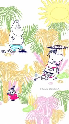 Moomin Wallpaper, Marimekko Wallpaper, Cartoon Wallpaper Iphone, Cute Home Screen Wallpaper, Cute Home Screens, Little My Moomin, Moomin Valley, Tove Jansson, Kids Lighting