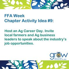 FFA Week Chapter Activity Idea #9