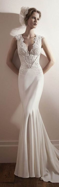 Wonderful Perfect Wedding Dress For The Bride Ideas. Ineffable Perfect Wedding Dress For The Bride Ideas. Wedding Dress Types, 2015 Wedding Dresses, Bridal Dresses, Wedding Gowns, Wedding Blog, Lace Wedding, Wedding Vintage, Sleek Wedding Dress, 50s Wedding
