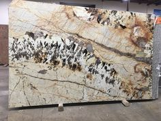 Barbados Sand Granite /the new kitchen island - lovely granite. -this slab is gorgeous