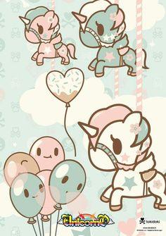 Tokidoki Hello Kitty, Photo Deco, Kawaii Illustration, Kawaii Wallpaper, Kawaii Art, Illustrations, Magical Creatures, Cute Images, Cute Characters