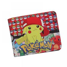 Everything on SALE & Free Worldwide Shipping! Unisex Pokemon Themed Wallet Price: $ 19.00 & FREE Shipping #dragonball Pokemon Cards, Pokemon Go, Pikachu, Pokemon Collection, Anime Toys, Best Wallet, Teenager, Card Wallet, Teen