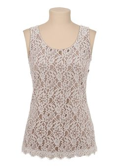 Floral Lace Front Top available at #Maurices