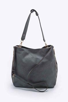 f2c4857cc5fa Deena   Ozzy Side Zip Tote Bag in Grey
