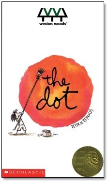 With a simple, witty story and free-spirited illustrations, Peter H. Reynolds' book, The Dot, has been transformed into a magical animated short film, enticing even the stubbornly uncreative among us to make a mark — and follow where it takes you. The Dot DVD is available for $59.95. Also available in bundles with the book and other DVDs. Illustrations © 2003 Peter H. Reynolds. Copyright © 2004 Weston Woods Studios, Inc.