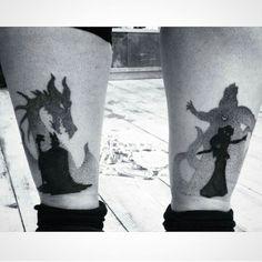 Ursula and maleficent tattoo