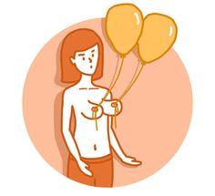 Amarre balões em seus mamilos.