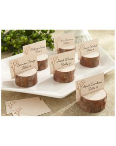Spotted this Kate Aspen Rustic Real-Wood Set of 12 Place Card Holders on Rue La La. Shop (quickly!).