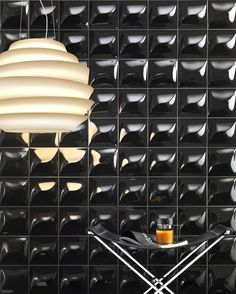 Goccia; Design tiles by Kravitz Design, glazed white-body porous single-fired tiles, in&out effect, ideal for wall coverings.