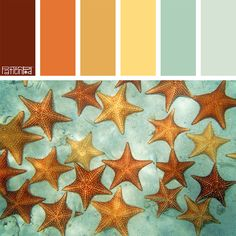 Color Palette: Aqua, Orange, Yellow. If you like our color inspiration, sign up for our monthly trend letter here! http://patternpod.us4.list-manage.com/subscribe?u=524b0f0b9b67105d05d0db16a&id=f8d394f1bb&utm_content=buffer847d9&utm_medium=social&utm_source=pinterest.com&utm_campaign=buffer