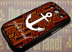 Anchor Foral Wood For Samsung Galaxy Black Rubber Case Iphone 4, Iphone Cases, Samsung Galaxy S3, Black Rubber, Anchor, Wood, Handmade, Hand Made, Woodwind Instrument