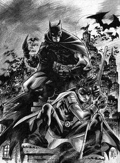 #Batman #And #Robin #Fan #Art. (Batman & Robin) By: Francis Manapul. (THE * 5 * STÅR * ÅWARD * OF: * AW YEAH, IT'S MAJOR ÅWESOMENESS!!!™) ÅÅÅ+