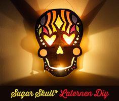 free Laterne Sugar Skull - frausscheiner.de