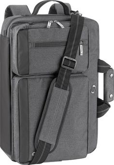 4f6dd48bec Solo - Urban Convertible Laptop Briefcase Backpack - Gray - Larger Front