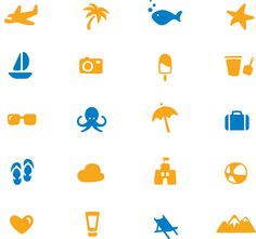 Schauinsland Reisen Piktogramme #icondesign #bulky #glyph