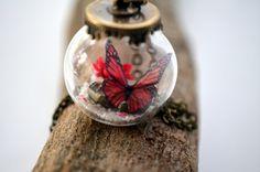 Terrarium necklace forest necklace unique by VeinsOfNature on Etsy