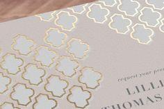Foiled Arabesque Wedding Invitations  / moroccan inspired weddings  #moroccanwedding #goldwedding
