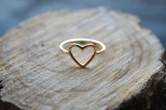 14kt Gold filled open heart ring