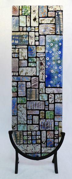 """Fused Glass """"Sky Window"""" Mosaic Class - Helios Kiln Glass Studio"""