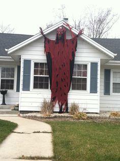 Halloween demon in Menomonee Falls, Wisconsin. American Religion, Menomonee Falls, Wisconsin, Traditional, Halloween, Plants, Plant, Planets, Spooky Halloween
