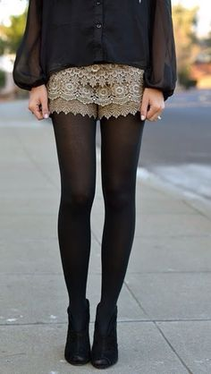 Lace shorts. Want this