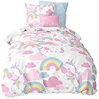 Aminata Kids Fein Biber Bettwasche Set 135 X 200 Cm Einhorn