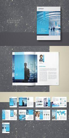 InDesign Business Brochure Template #brochure #template #brochuretemplates #indesign #templates #layout #editorial #corporate #business Graphic Design Brochure, Brochure Layout, Brochure Template, Branding Design, Corporate Brochure Design, Indesign Templates, Identity Branding, Visual Identity, Page Layout Design